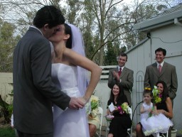Highlight for Album: Ben and Kelly's March Wedding, 2003